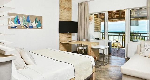 Zilwas Privilege Suite mitt på stranden