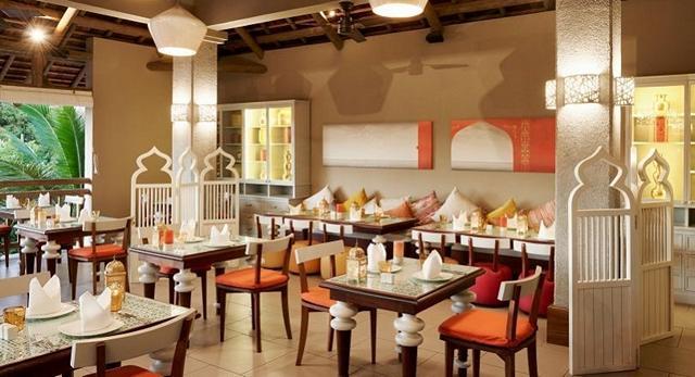 Den indiskt inredda restaurangen Tadka