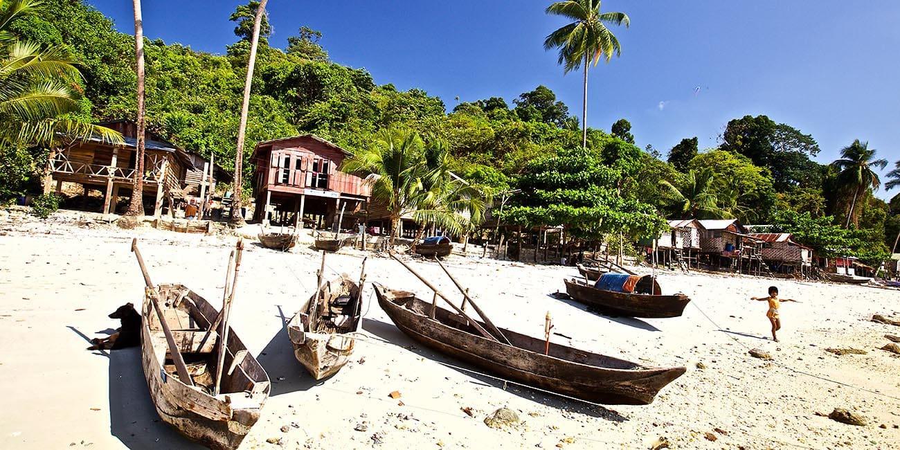 Välkommen att kliva i land vid tropiska Burma