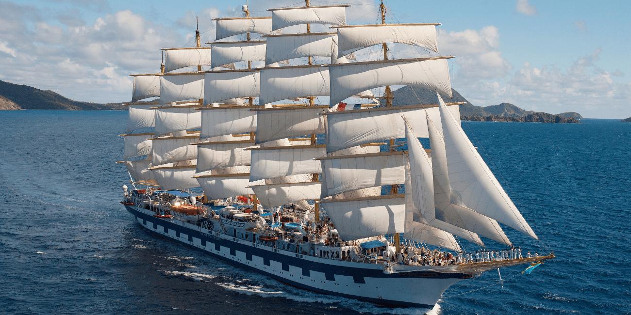 Större segelbåtar kan användas vid vissa paketresor