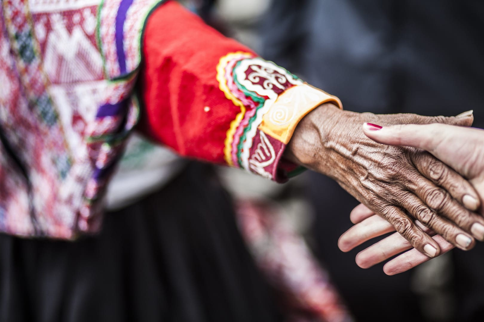 En äldre kvinna i Peru