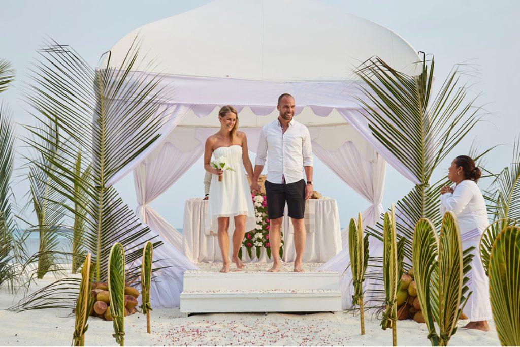 Många väljer att gifta sig på en resa till Maldiverna