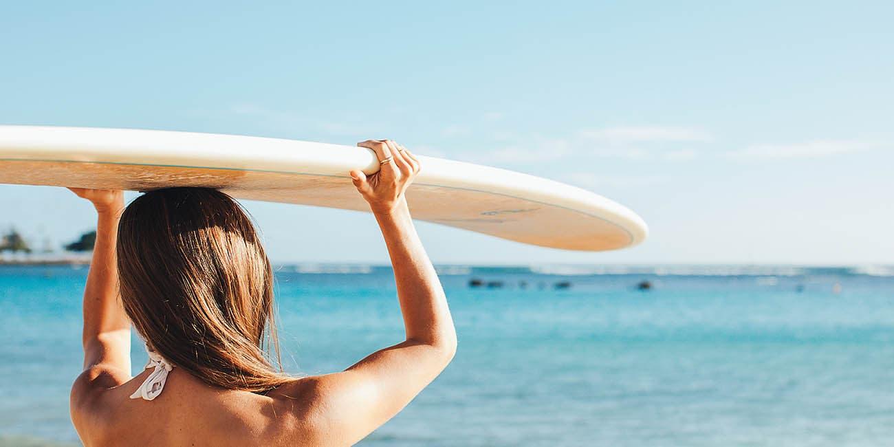 Surfning är populärt på vissa paketresor