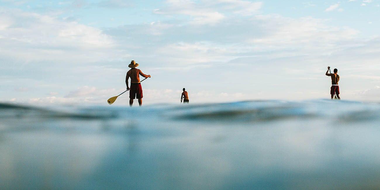 Vissa åker, kanot, andra seglar eller hyr en annan båt