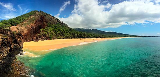 Makena Big Beach på Maui i Hawaii