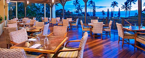 Restaurangen Travaasa Hana på Travaasa Hotel