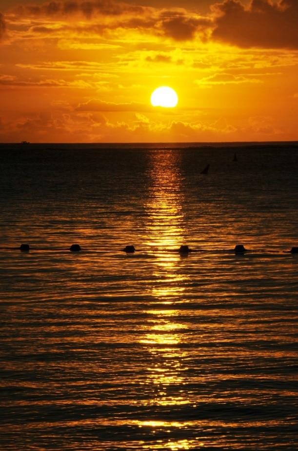 Solnedgångarna här kan bli mycket vackra