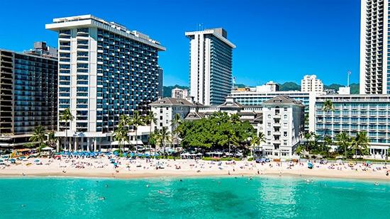 Hotell Moana Surfrider på Waikiki Beach