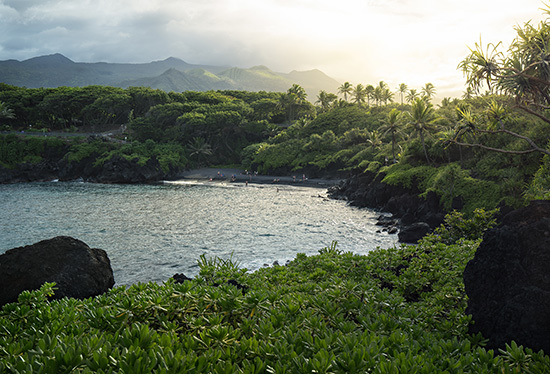 Kustresma på Waianapanapa Hawaii
