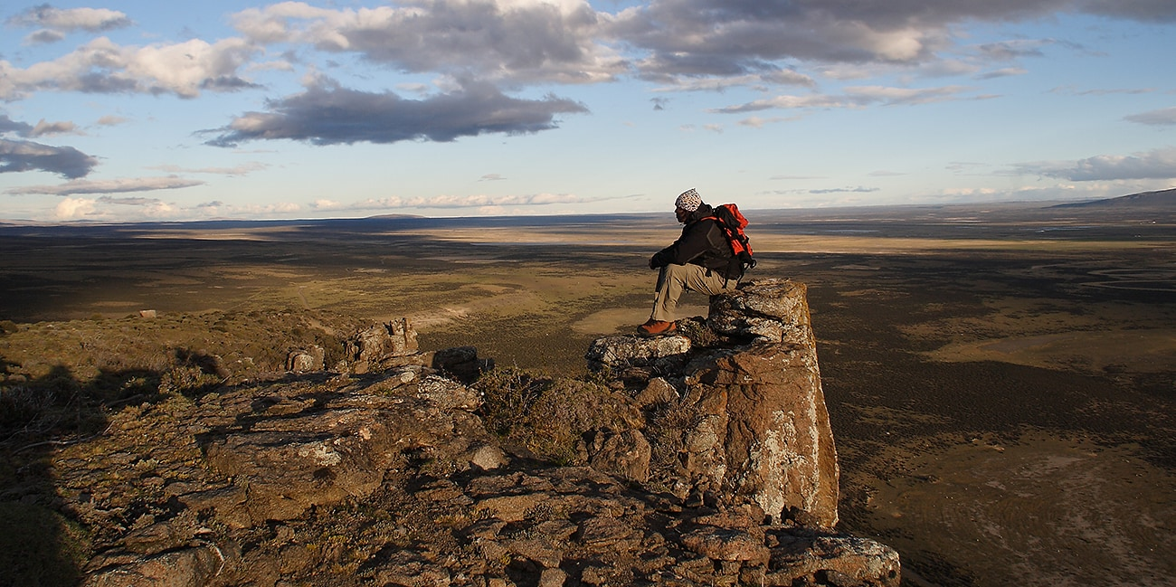 Vandring i berg och djupa dalar