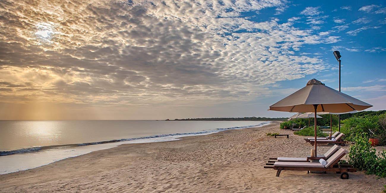 Sola och bada på Sri Lanka