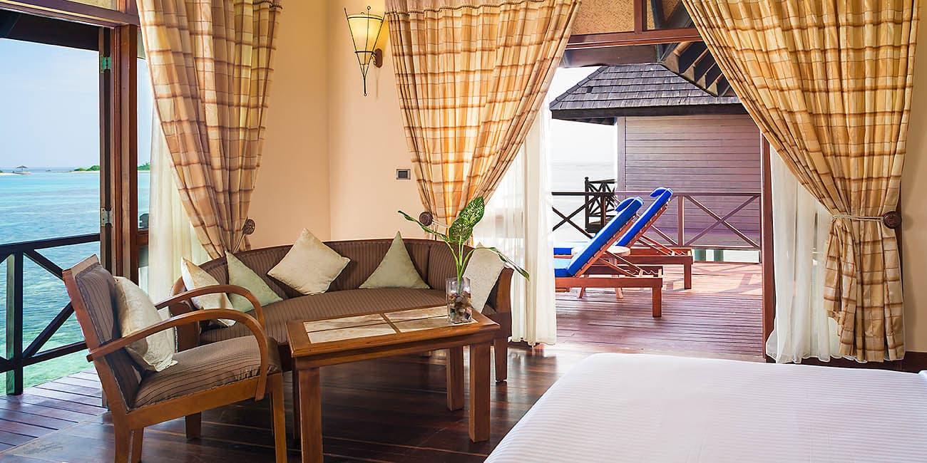 Skönt häng i villa på vattnet