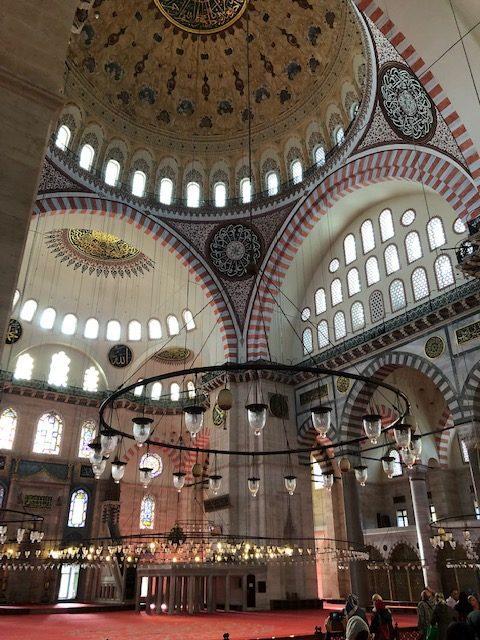 Suleymanmosken i Istanbul är vacker
