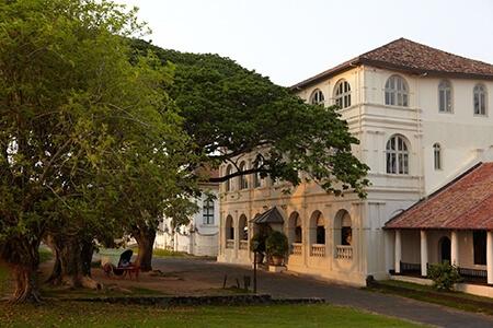 Utsidan av Fort Amangalla, Sri Lanka