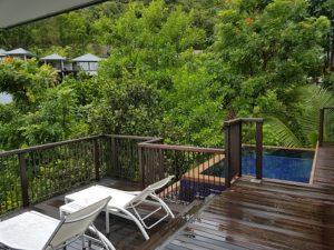 Härlig utsikt från Raffles Seychellerna