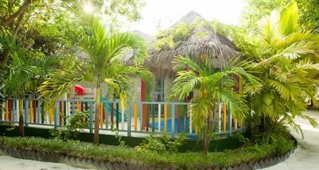 Barnklubben Camp Safari på Centara Grand Island Resort, Maldiverna.