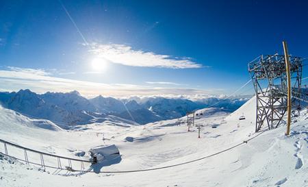 Skidåkning i Cortina, Italien