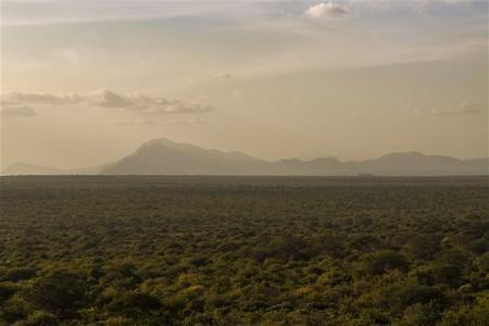 Utsikt över berg på safari i Kenya