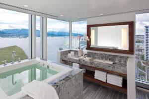 Fin utsikt från ett av badrummen