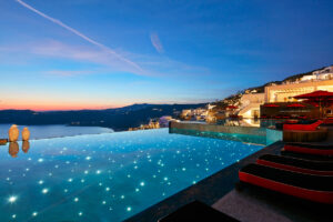 Infinity pool, by nightfall